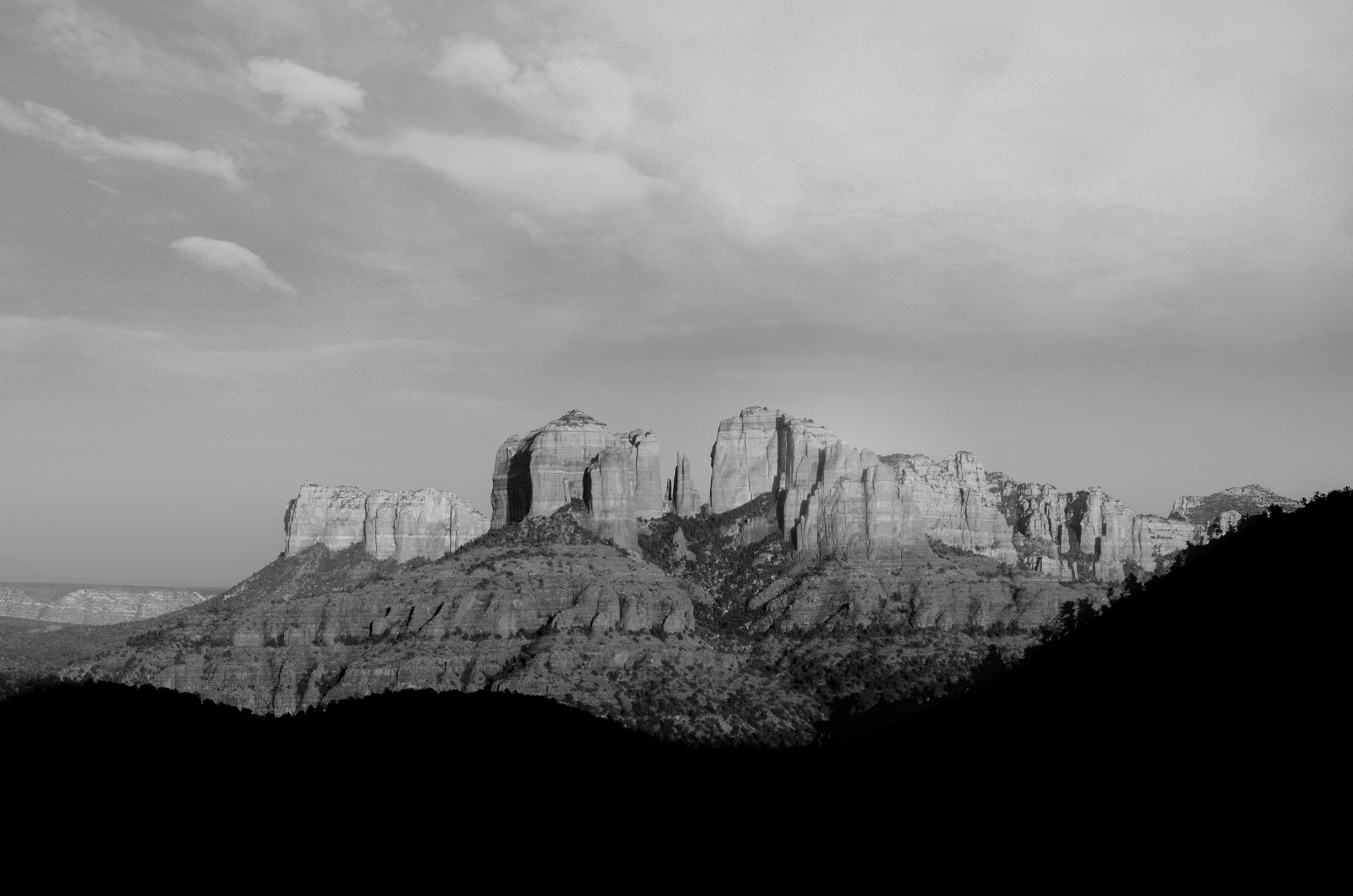 Black and White Photography of Mountains in the USA