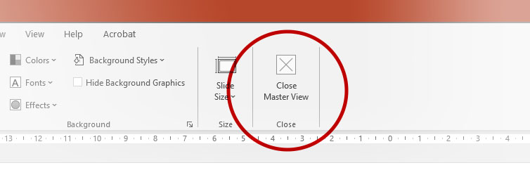 PowerPoint Close Master View